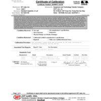 ISO-17025試験データによる認定校正